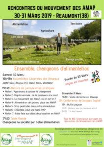Rencontre inédite en Isère : rencontre du mouvement des Amap à Réaumont ! @ Réaumont
