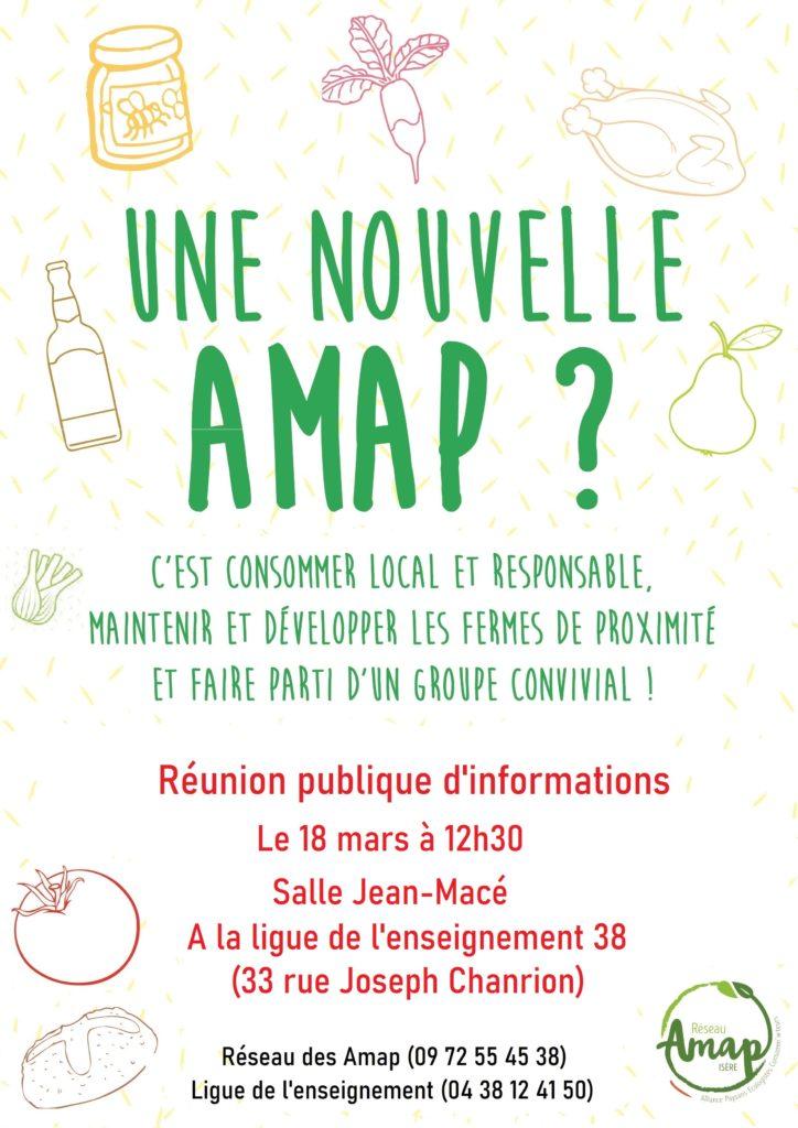 2ème rencontre : réunion d'information projet création Amap à La Ligue de l'enseignement 38