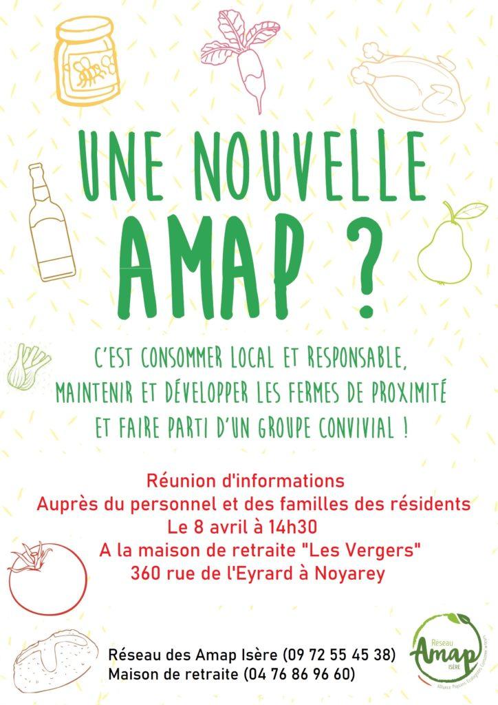 """2ème rencontre : réunion d'information projet de création Amap à la Maison de retraite """"Les Vergers"""" Noyarey @ Maison de retraite """"Les Vergers"""""""