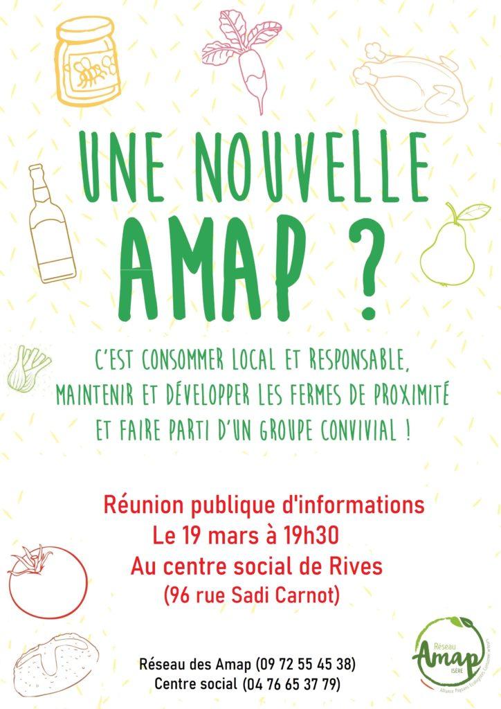 2ème rencontre : réunion public d'information création d'une Amap au centre social de Rives